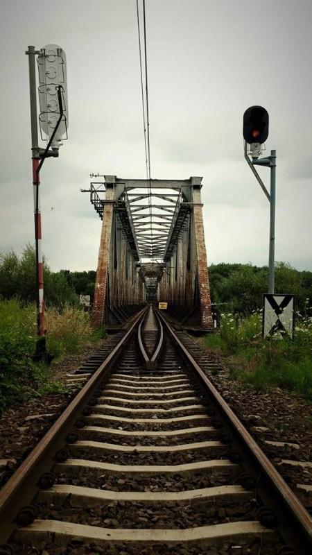 Most nad Regalicą - wjazd