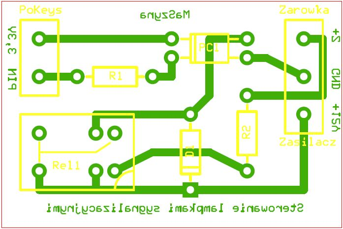 PCB diagram for lamp driver